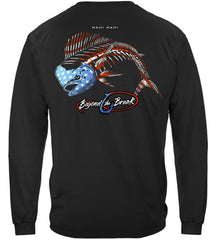 Patriotic Mahi Mahi Premium Fishing Long Sleeve T-Shirt