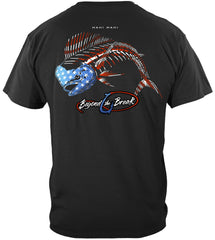 Patriotic Mahi Mahi Premium Fishing T-Shirt