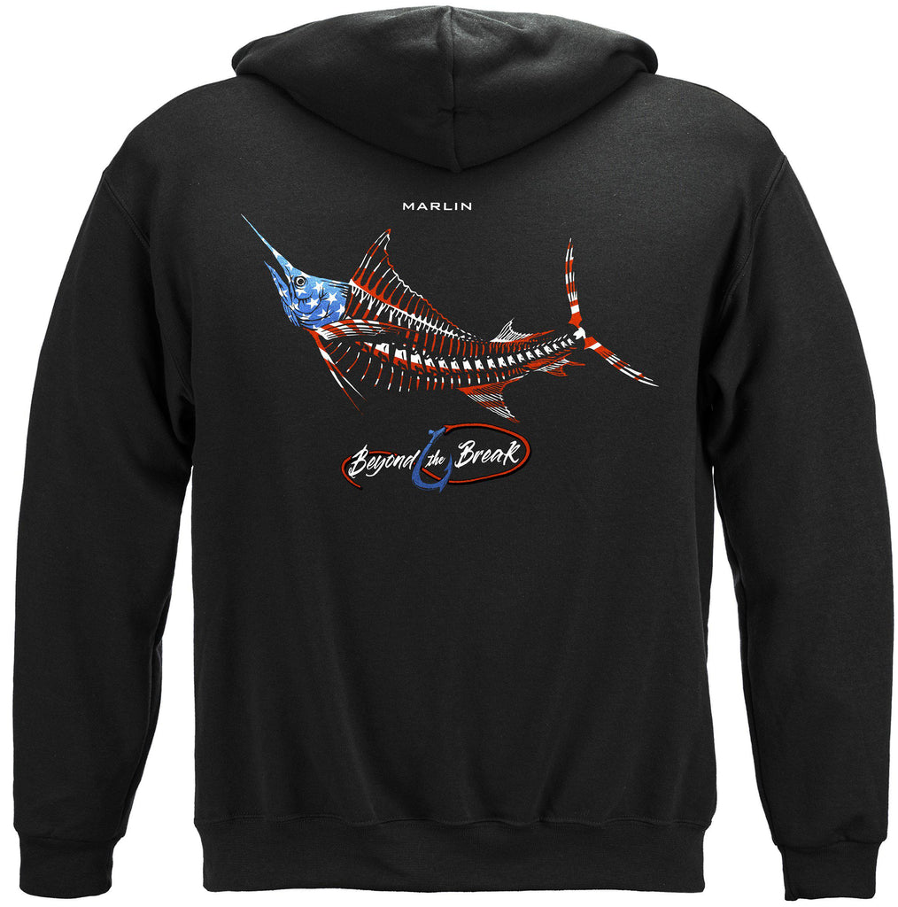 Patriotic Malin Premium Fishing Hoodie Sweatshirt