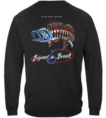 Patriotic Striped Bass Premium Fishing Long Sleeve T-Shirt