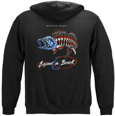Patriotic Striped Bass Premium Fishing Hoodie Sweatshirt