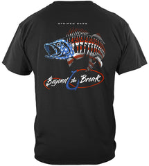 Patriotic Striped Bass Premium Fishing T-Shirt
