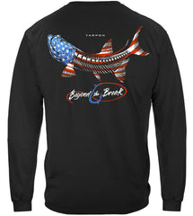 Patriotic Tarpon Premium Fishing Long Sleeve T-Shirt