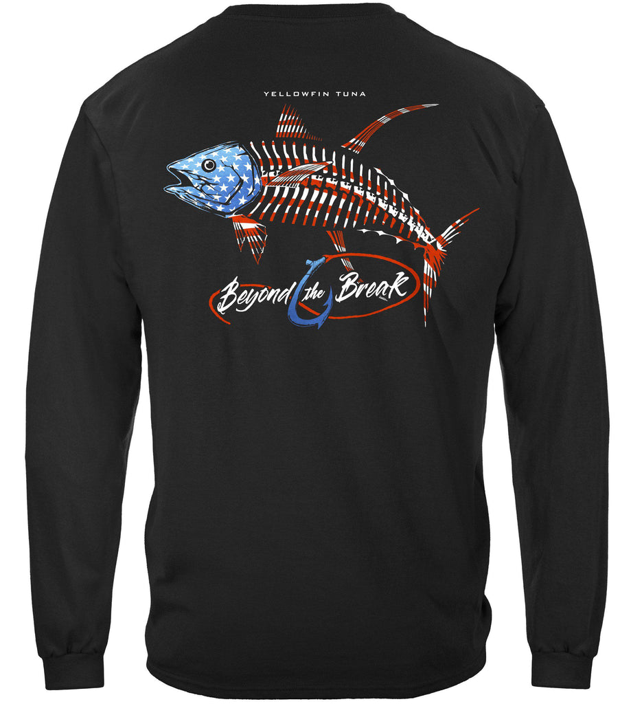 Patriotic Tuna Premium Fishing Long Sleeve T-Shirt