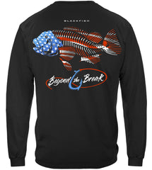 Patriotic BlackFish Premium Fishing Long Sleeve T-Shirt