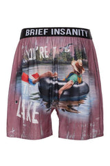 Brief Insanity Relax You're At The Lake Silky Funny Boxer Shorts Gifts for Men Women