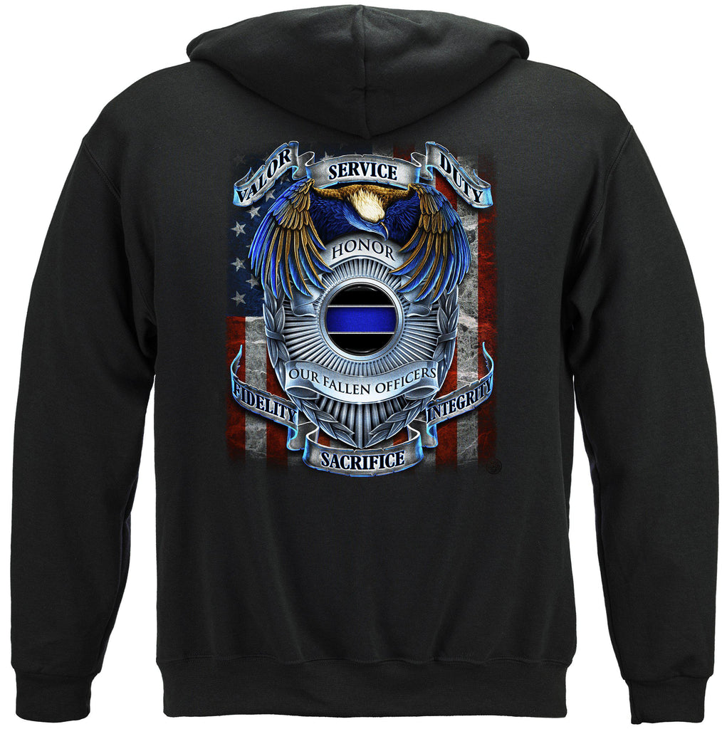Honor our Fallen Officers Police Premium Hoodie Sweatshirt