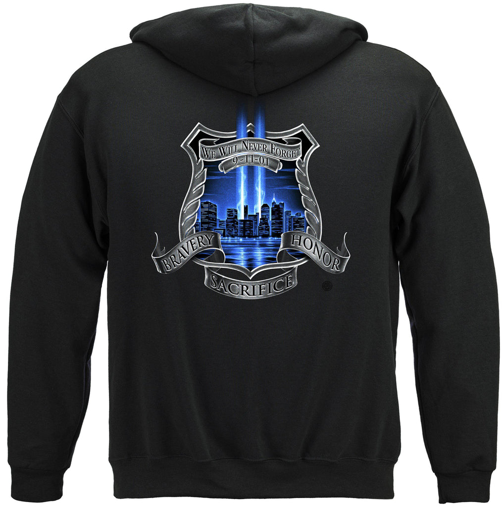Aftermath High Honors Police Law Enforcement Premium Hooded Sweatshirt
