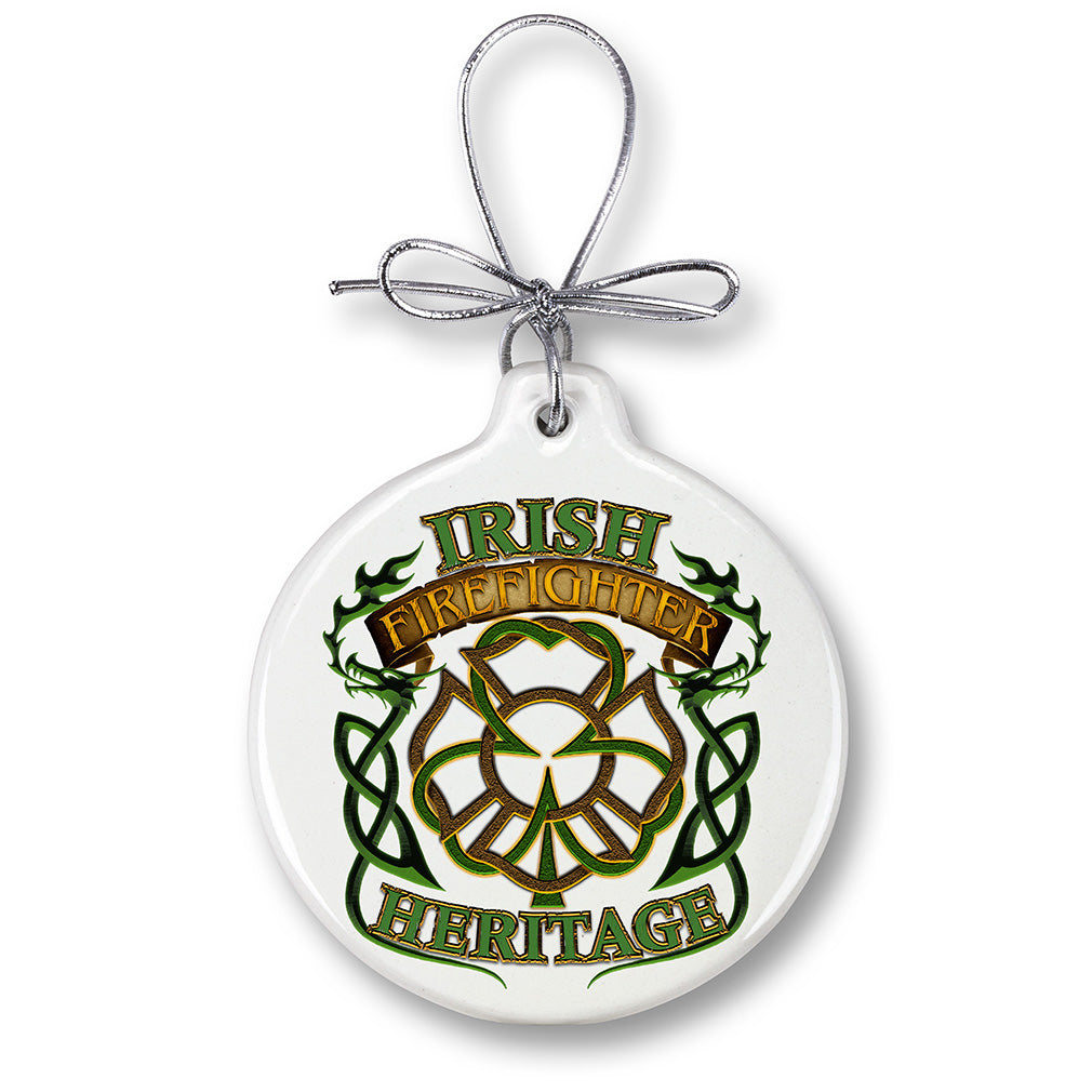 Irish Firefighter Heritage Christmas Tree Ornaments