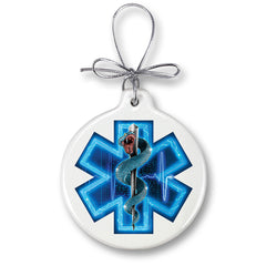 EMS Full Silver Snake Christmas Tree Ornaments