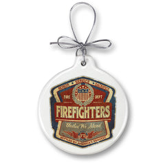 Firefighter Denim Fade Christmas Tree Ornaments