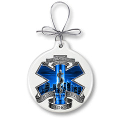 EMS 911 Blue Skies We Will Never Forget Christmas Tree Ornaments