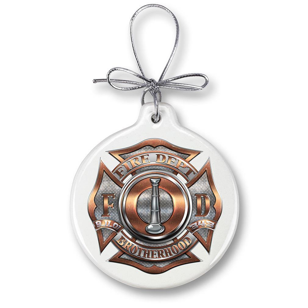 1 Bugle Ranking Firefight Christmas Tree Ornaments