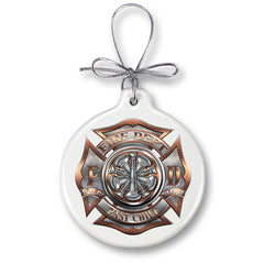 Firefighter Past Chief Christmas Tree Ornaments