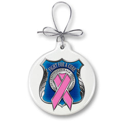Police Race For A Cure Christmas Tree Ornaments