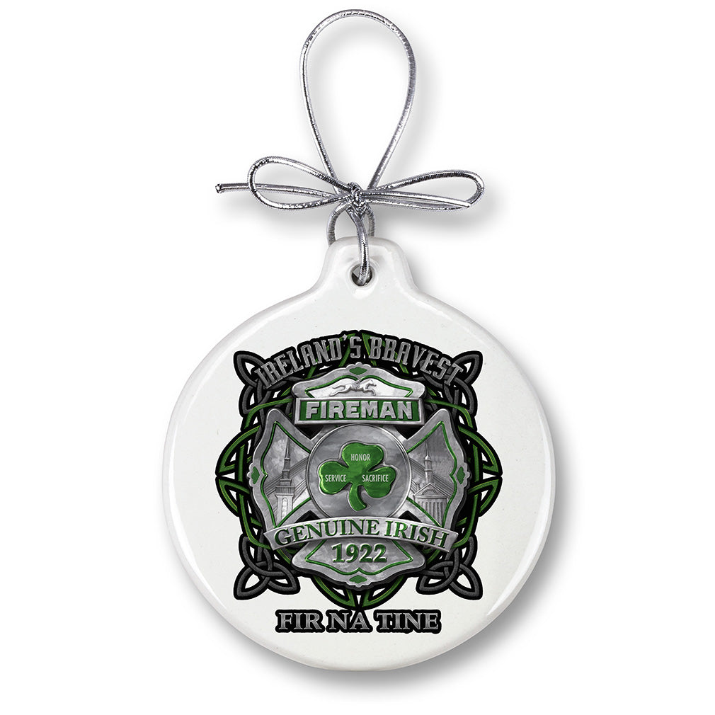 Firefighter Garda Ireland Bravest Christmas Tree Ornaments