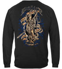 Police Law Enforcement Scales of Justice Full Front Premium Long Sleeve T-Shirt