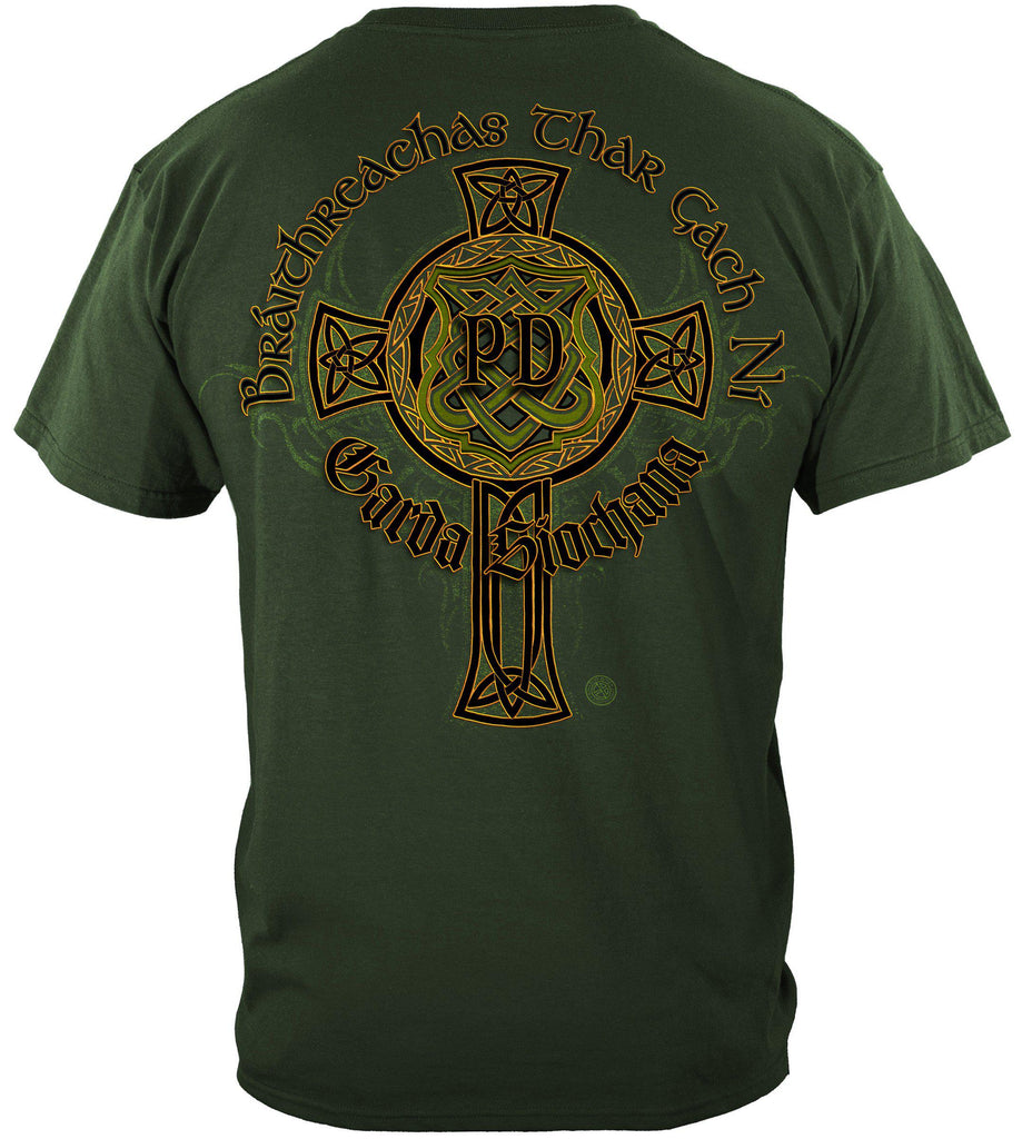 Irish Police Gold Cross Premium T-Shirt