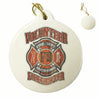 Firefighter Faded Planks Christmas Tree Ornaments