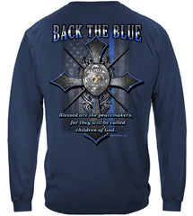 Police Back the Blue Matthew 5:9 Christian Shirt Premium Long Sleeve T-Shirt