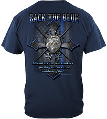 Police Back the Blue Matthew 5:9 Christian Shirt Premium T-Shirt