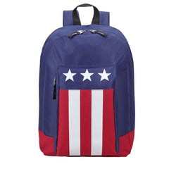 USA Flag Patriotic Backpack Book Bag School Travel Carry-On Adjustable Straps