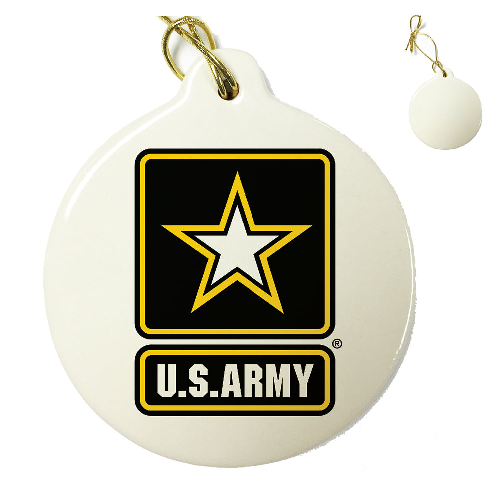 Army Logo Christmas Tree Ornaments