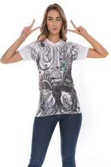 Peace Retro 1964 Love Flower Power Hippie Soft T-Shirt Tee Printed Pocket