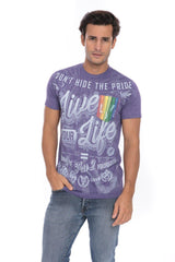 Lgbt Gay Pride Love Equal Rights Stand Proud Parade Soft Pocket T-Shirt Purple