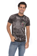 Rocking Mind Rock N Roll Music Soft T-Shirt Tee Printed Pocket Unisex - Black