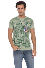 Paradise Island Parrot Head Fever Soft T-Shirt Tee Printed Pocket Unisex
