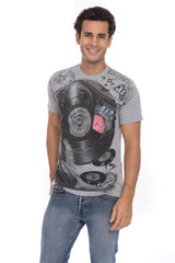 Vinyl Record Time DJ Spinning Music Soft T-Shirt Tee Printed Pocket Black