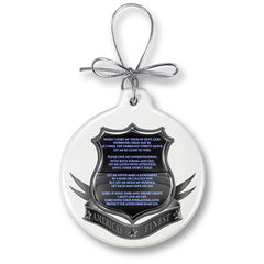 Policeman's Prayer Christmas Tree Ornaments