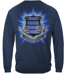 Police Policeman's Prayer Premium Long Sleeve T-Shirt