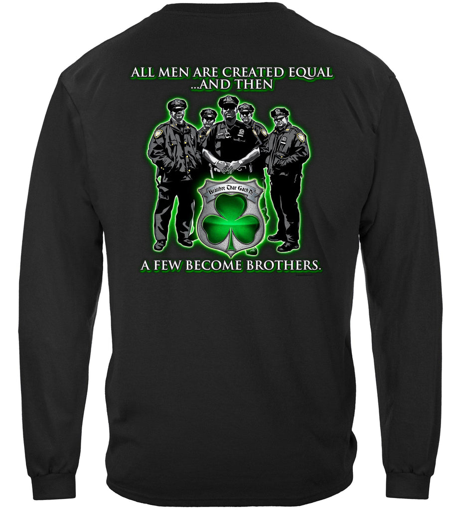 Police Policeman's Brotherhood Irish Premium Long Sleeve T-Shirt