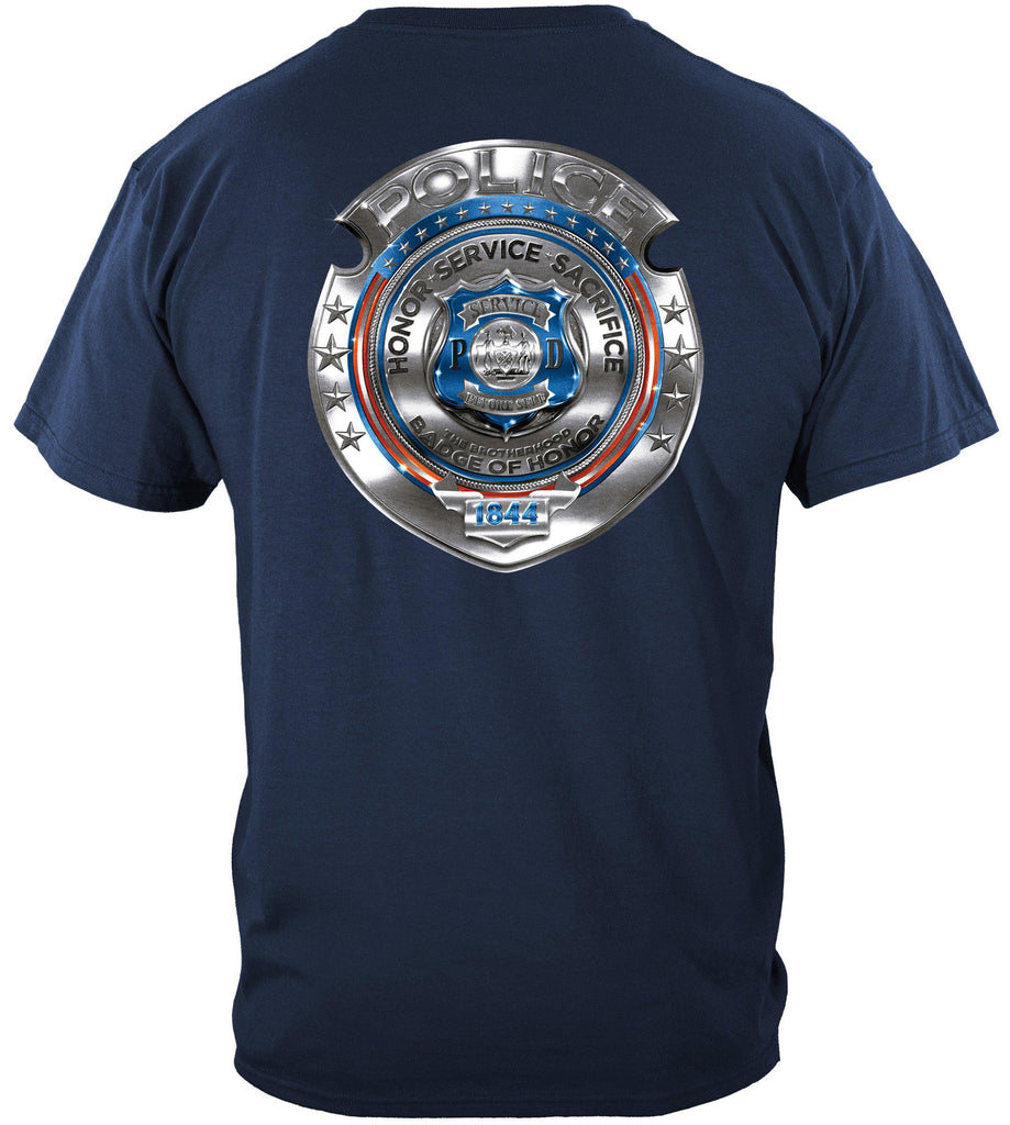 Police Honor Courage Sacrifice Badge Premium T-Shirt