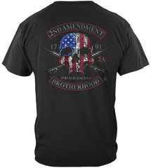 2nd Amendment Brotherhood Biker Skull and Flag Premium T-Shirt