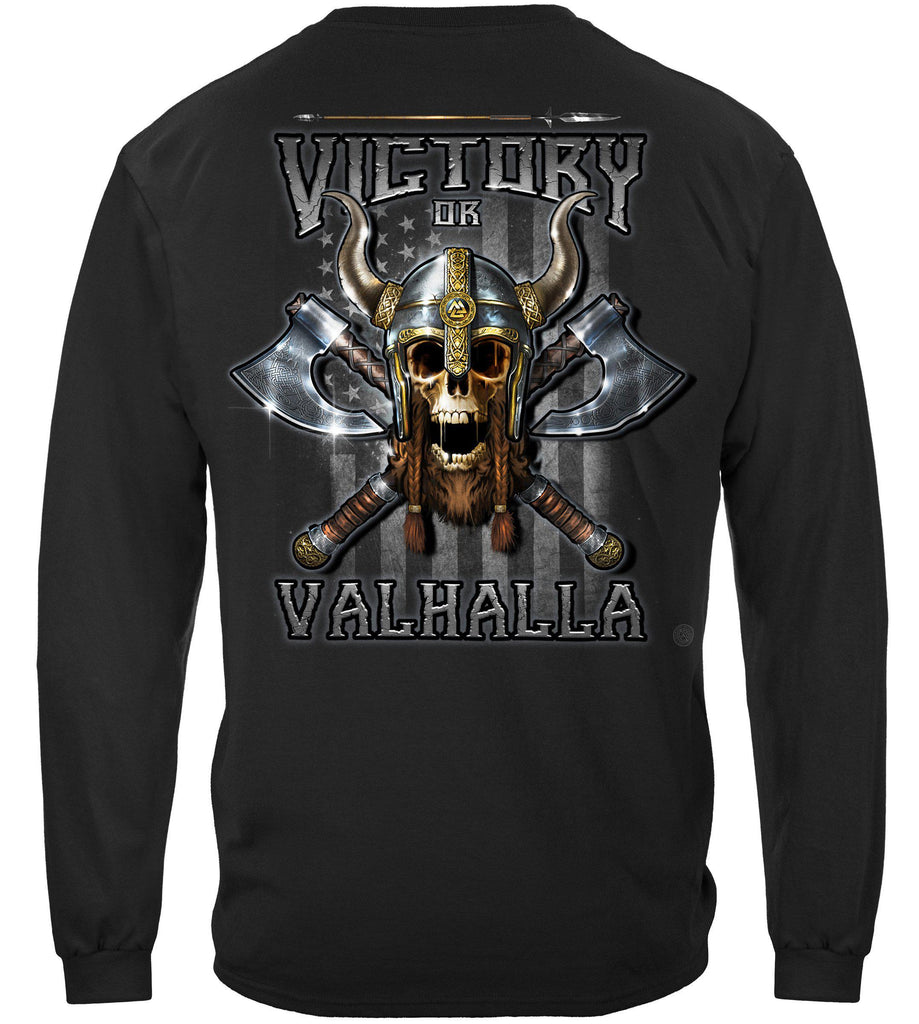 Victory or Valhalla American Flag Freedom Come and Take it Premium Long Sleeves Shirt