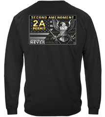 2nd Amendment Gun Permit Premium Long Sleeves Shirt