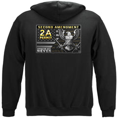 2nd Amendment Gun Permit Premium Hoodie Sweatshirt