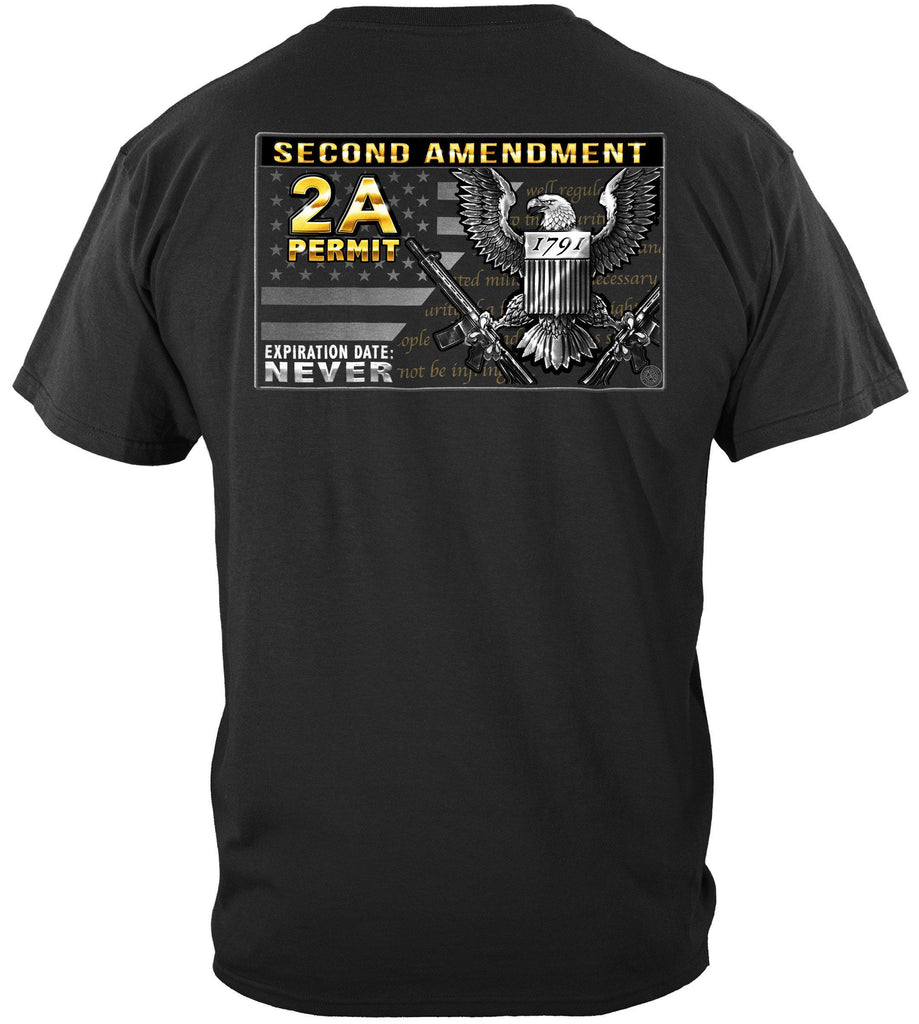 2nd Amendment Gun Permit Premium T-Shirt