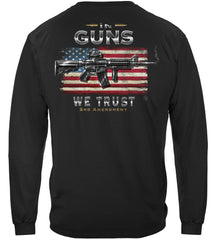 2nd Amendment In Guns We Trust Premium Long Sleeves Shirt