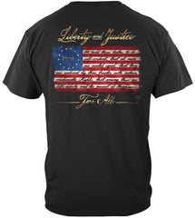 Patriotic 1776 Betsy Ross flag Liberty and Justice For All Premium T-Shirt