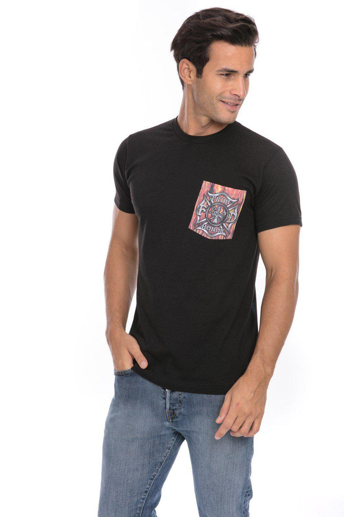 First In Last Out Bravery Honor Pride Firemen Firefighter T-Shirt Tee