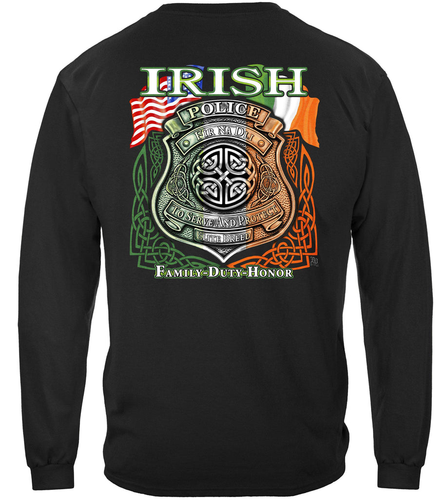 Elite Breed Irish American Police Premium Long Sleeve T-Shirt