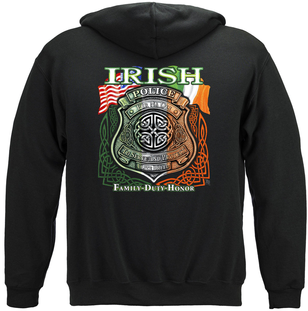 Elite Breed Irish American Police Premium Hoodie Sweatshirt