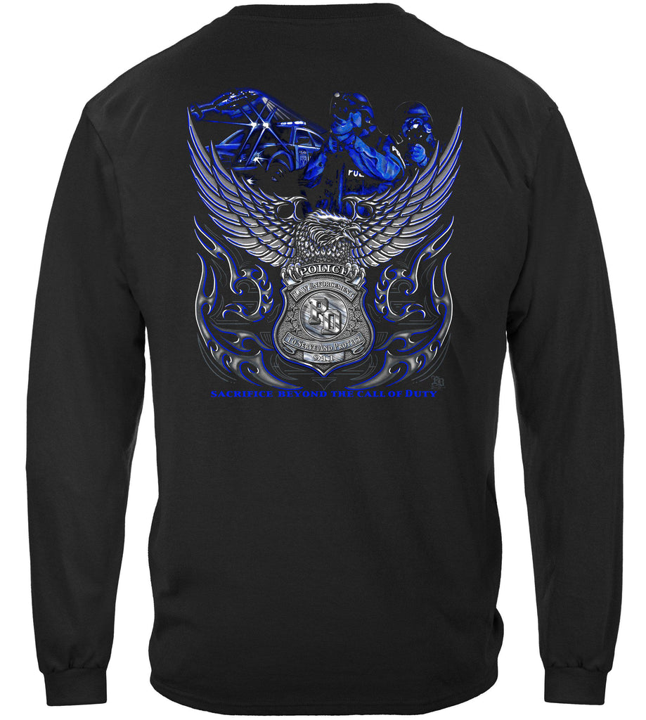 Elite Breed Eagle Police Law Enforcement Premium Long Sleeve T-Shirt