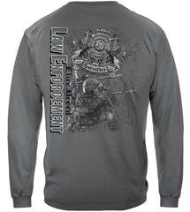 Elite Breed Gray Police Law Enforcement Premium Long Sleeve T-Shirt