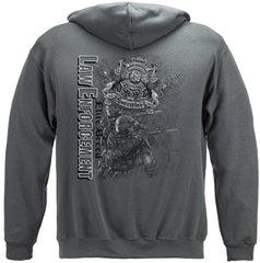 Elite Breed Gray Police Law Enforcement Premium Hoodie Sweatshirt