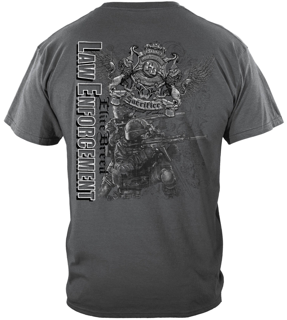 Elite Breed Gray Police Law Enforcement Premium T-Shirt
